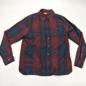 Merrell Flannel Button Front Size L Plaid Shirt